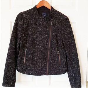 Gently Used GAP Tweed Moto Jacket